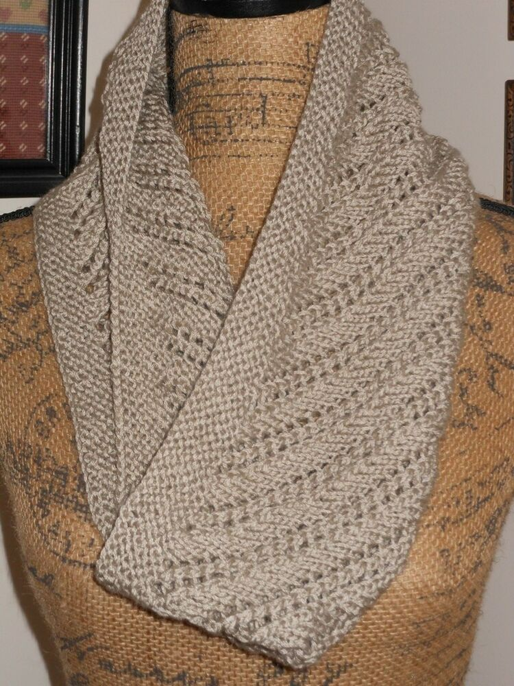 Hand Knitted Gorgeous Super Soft Diagonal Pattern Lace