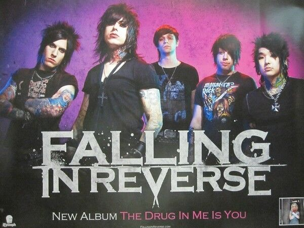 FALLING IN REVERSE 2011 the drug in me is you promo poster ...