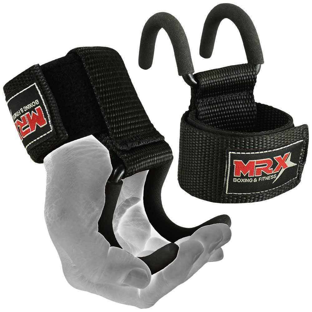 Quality Gym Weight Lifting Strap Heavy Duty Wrist: MRX Power Weight Lifting Training Gym Hook Grips Straps