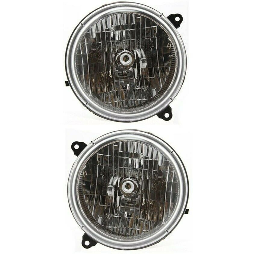 Headlight Set For 2003-2004 Jeep Liberty Driver And