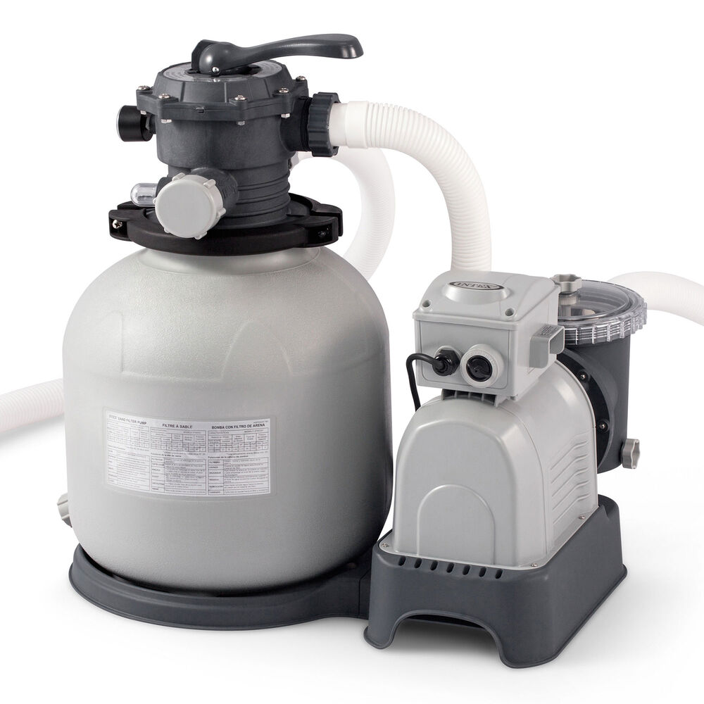 Intex Krystal Clear 3 000 Gph Above Ground Pool Sand Filter Pump 28651eg Ebay