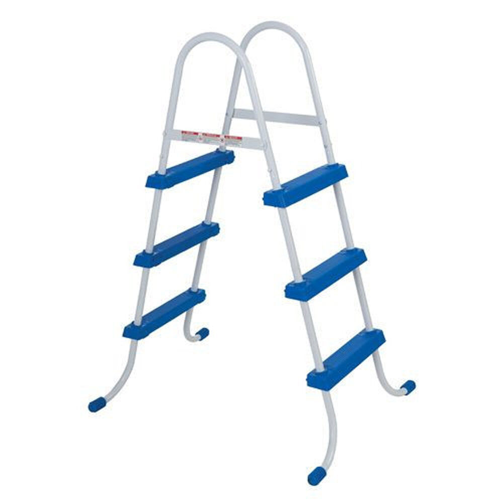 Intex above ground swimming pool ladder w barrier 48 for Pool ladder