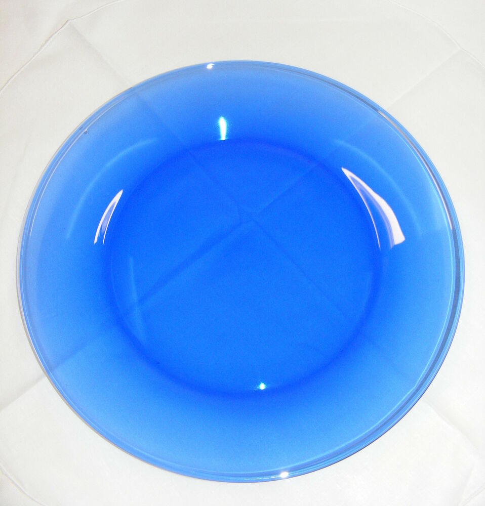 Blue Glass Plate Uk