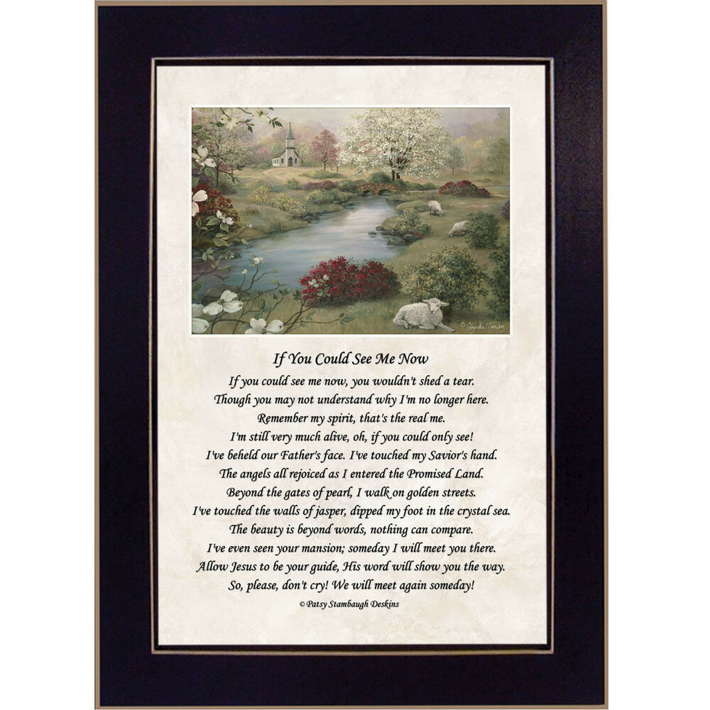 39 if you could see me now 39 memorial framed wall art ebay for Home decor 4 u