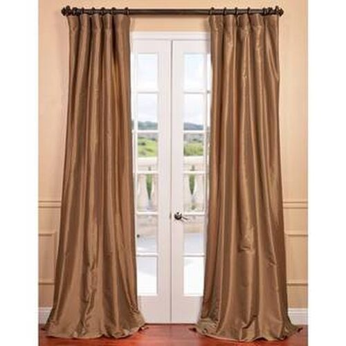 Eff Gold Nugget Faux Silk Taffeta Curtain Panel | eBay