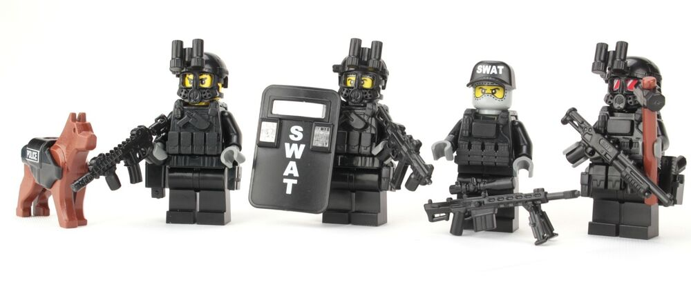 SWAT Team Police Officer Tactical Unit (SKU53) made with real LEGO ...