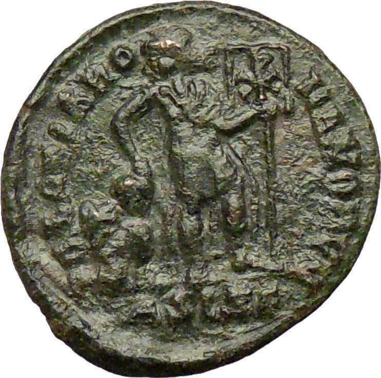 valentinian ii 378ad ancient roman coin labarum christ monogram chi