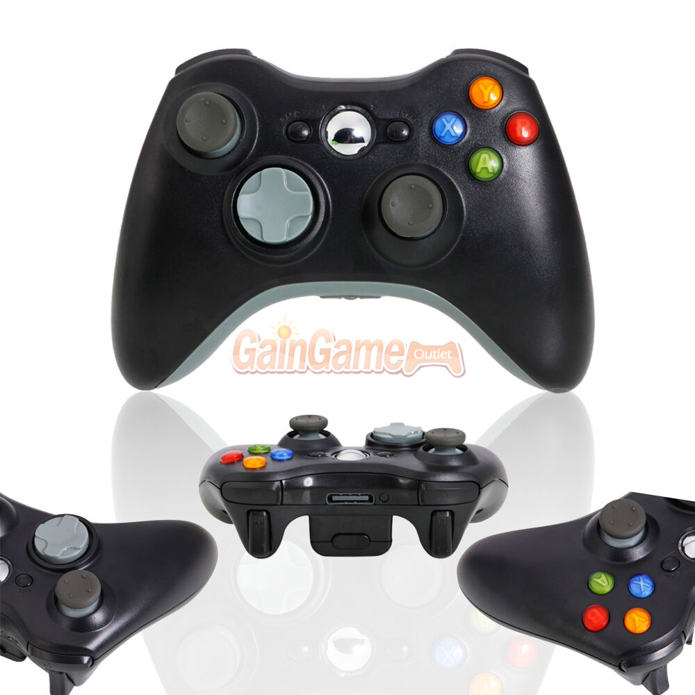 new black wireless game remote controller for microsoft. Black Bedroom Furniture Sets. Home Design Ideas