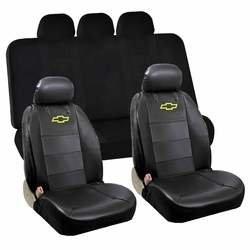 Pcs chevy chevrolet front low back seat cover rear bench