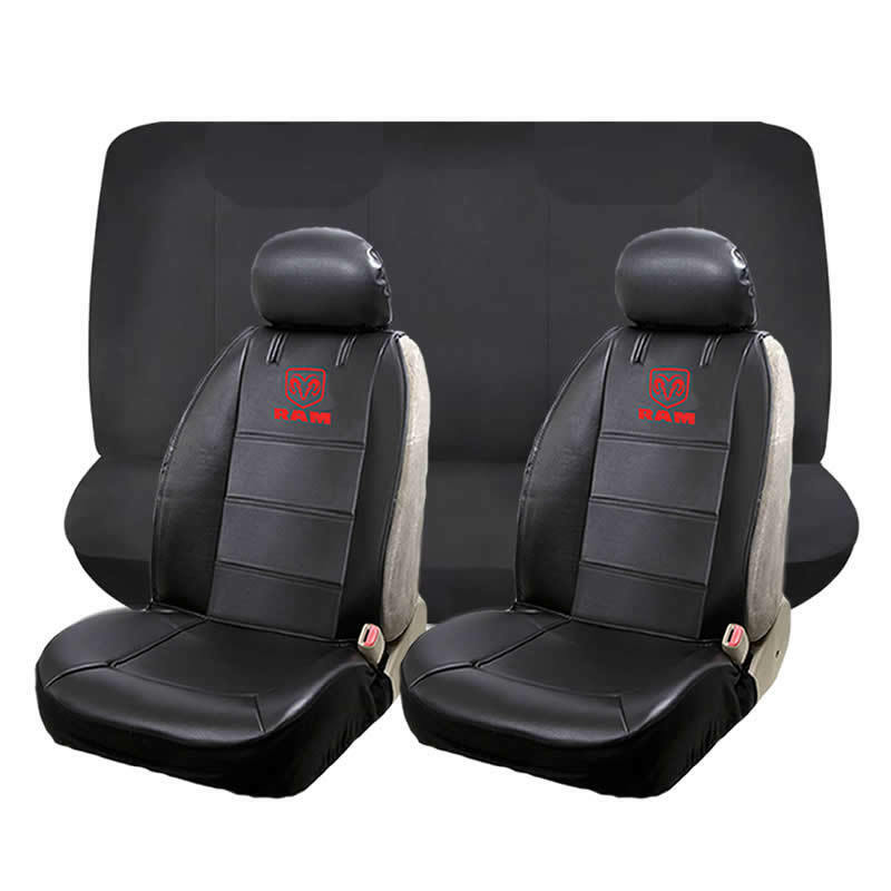 6 Piece Dodge Ram Front Low Back Seat Cover Rear Bench