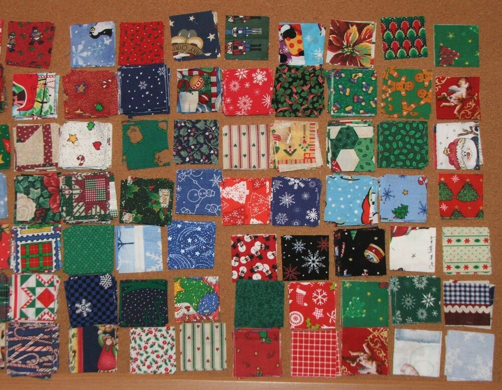 Closeout New 150 Each 2 Inch Christmas Quilt Squares