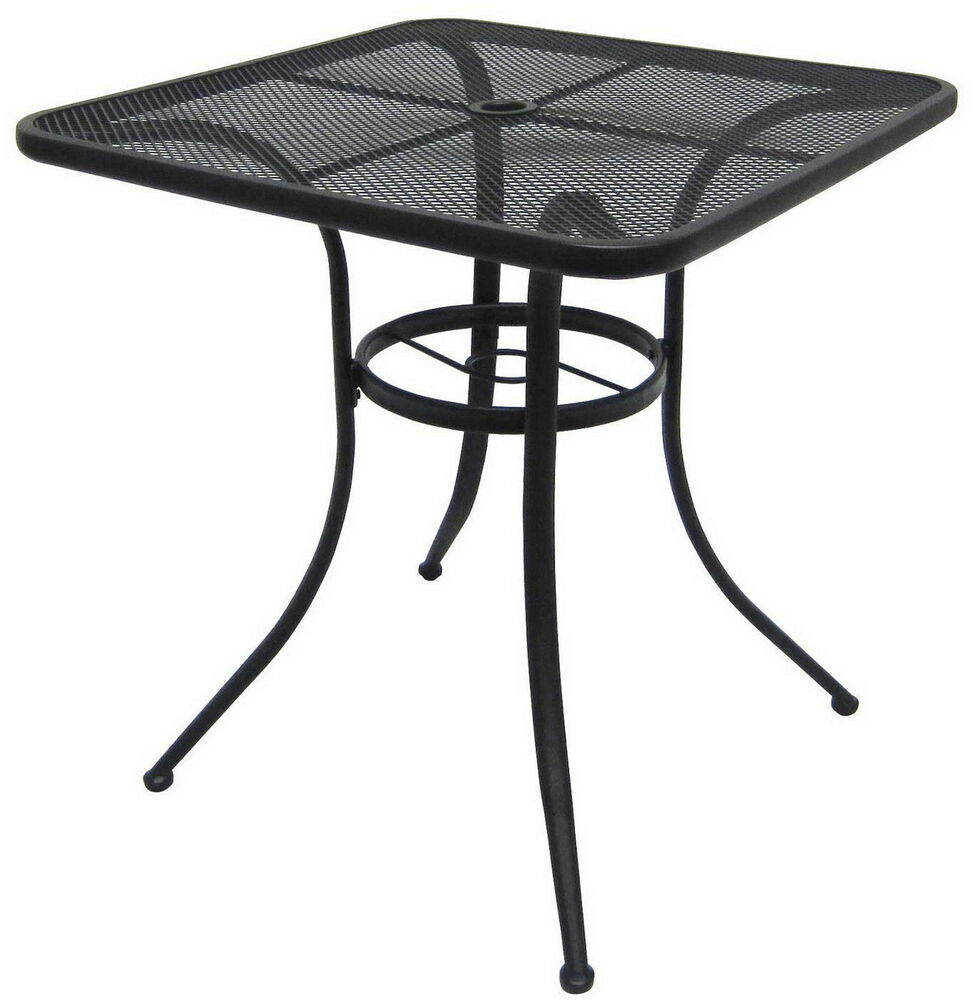 New 28 Quot Black Bistro Table Wrought Iron Indoor Outdoor