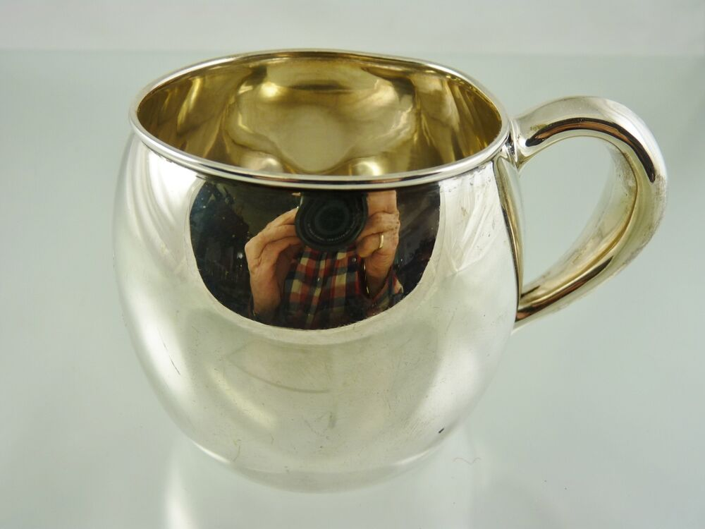 Vintage Sterling Silver Baby Cups Antique Sterling Silver
