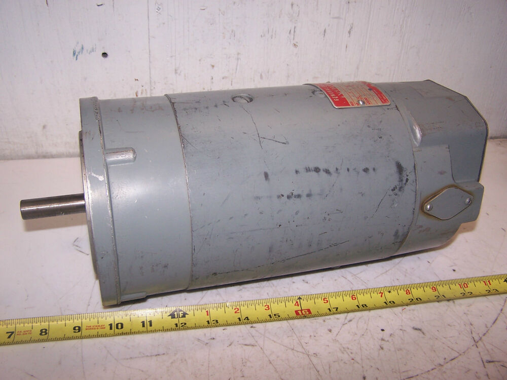Ge 3 4 hp dc electric motor 90 vdc 56 frame 1725 rpm for 90 volt dc motor