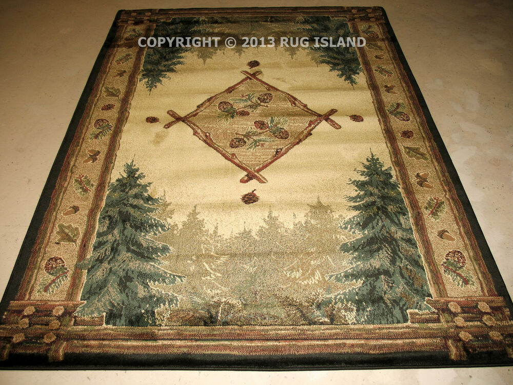 8x11 7 39 10 x 10 39 6 lodge log cabin rustic pine forest for 10x10 area rug