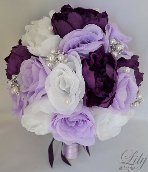 how to make wedding bouquet with artificial flowers 17pcs wedding bridal bouquet set silk flower decoration 5003