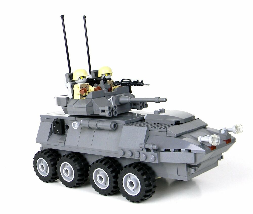 Custom Marine Lav 25 Military Armored Vehicle Made with Real Lego ...