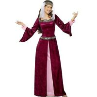 Ladies Medieval Maid Marion Fancy Dress Costume S - XXL by Smiffys New
