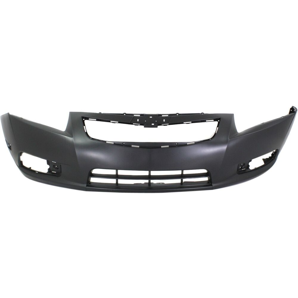 Front Bumper Cover For 2011 2014 Chevy Cruze W Fog Lamp