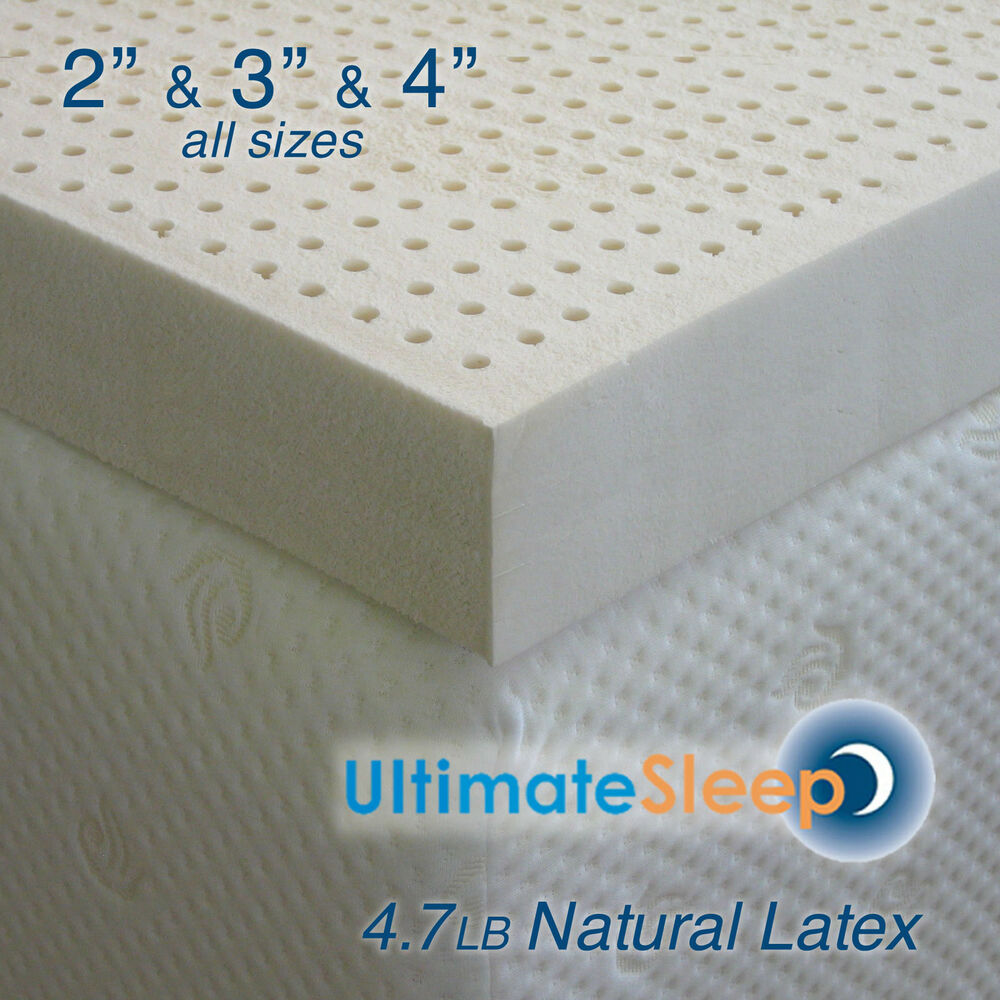 new 3 inch 100 natural latex mattress pad topper queen 60 x 80 3 densities ebay. Black Bedroom Furniture Sets. Home Design Ideas