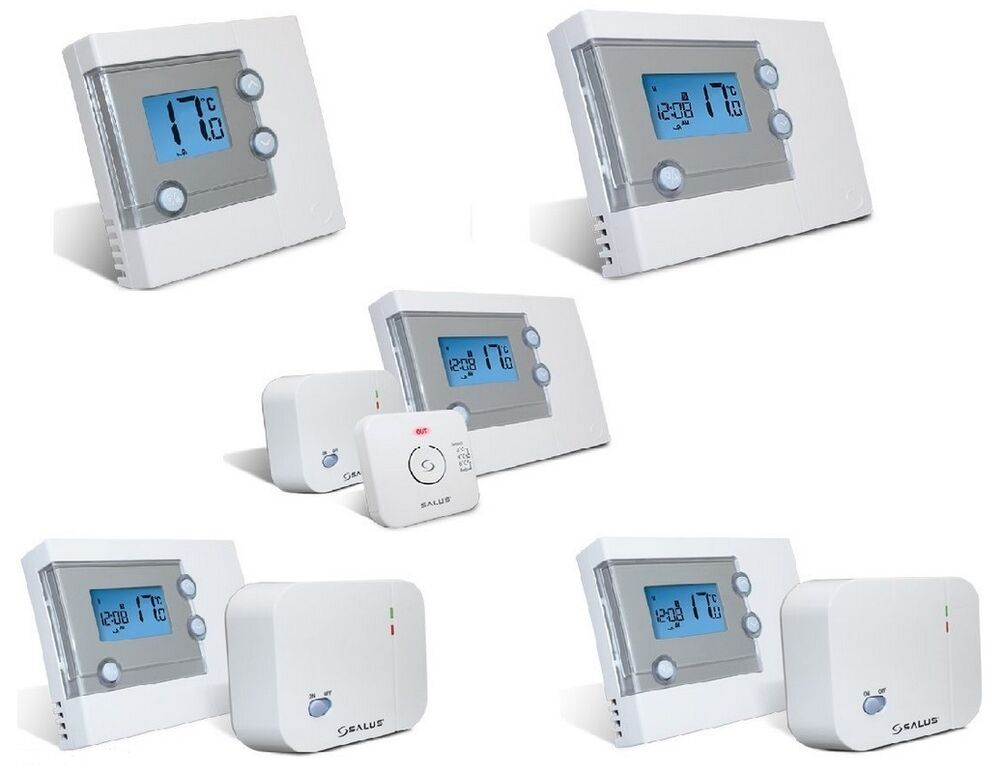 salus central heating thermostats wireless hardwired. Black Bedroom Furniture Sets. Home Design Ideas