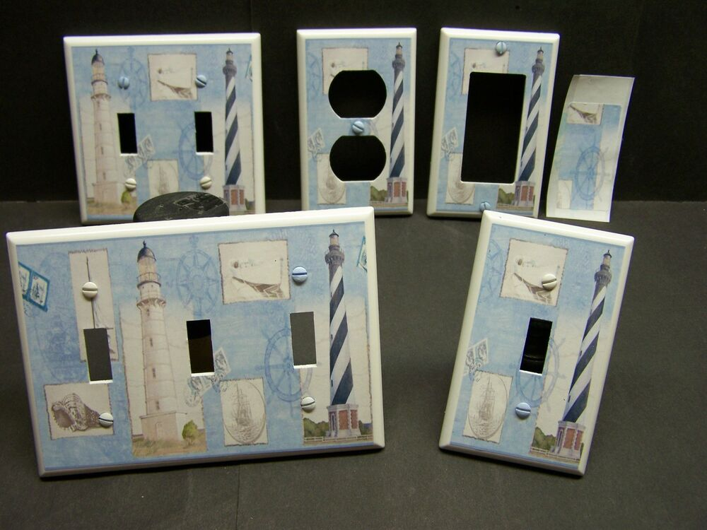 Nautical lighthouse image 25 home decor light switch for Lighthouse switch plates