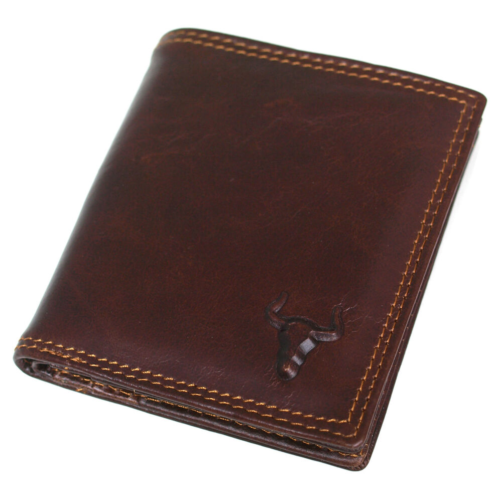 Sllim Leather Credit Card Wallets For Mens Bifold Purse   eBay