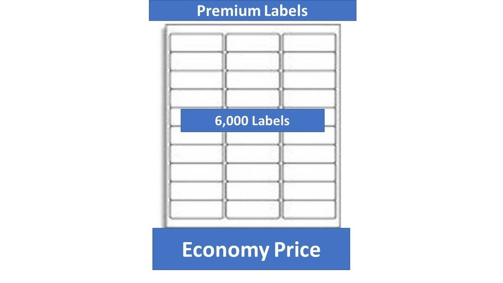 6000 laser ink jet labels 30up address compatible with for Avery 30 up label template