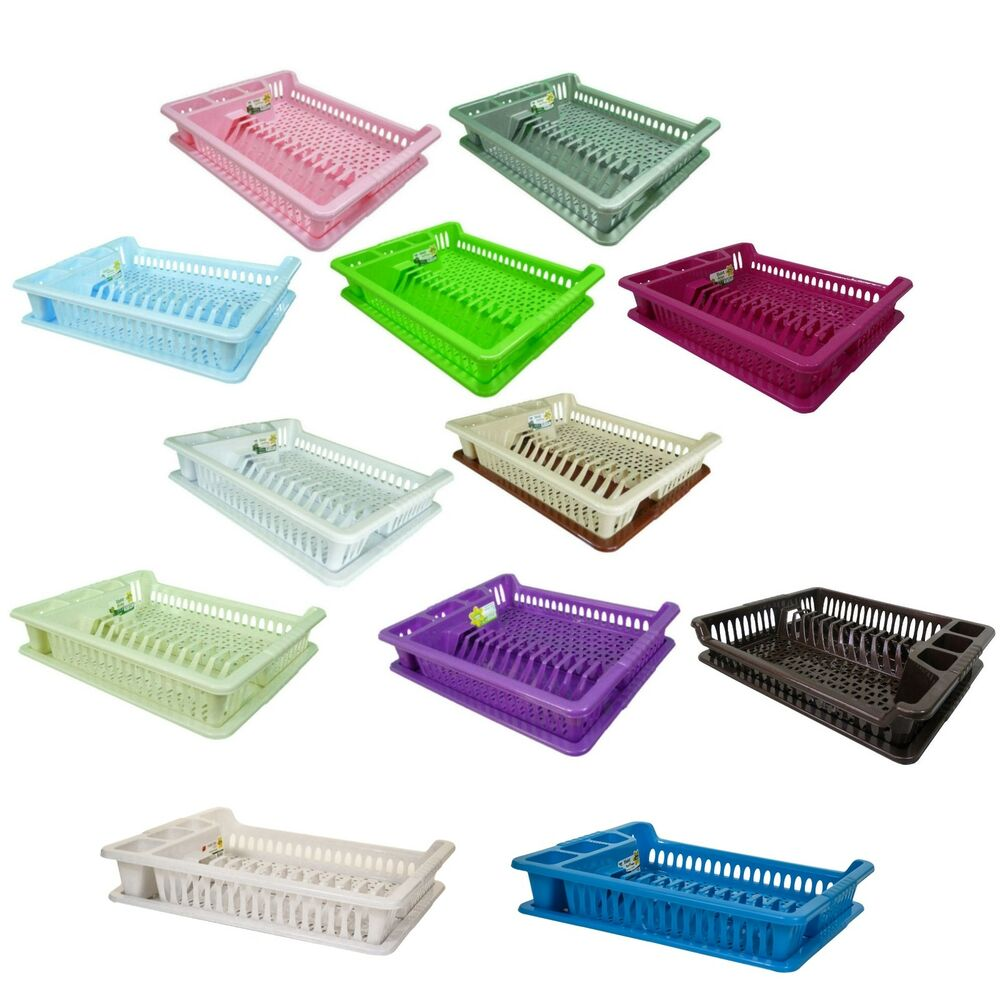 Quality Hobby Large Plastic Dish Drainer Plate And Cutlery