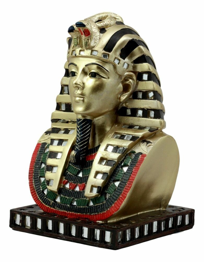 ANCIENT EGYPTIAN PHARAOH KING TUT BUST MASK STATUE ...