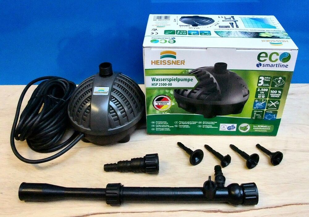 Garden fish pond pump 2500ltr eco fountain waterfall for Outdoor fish pump
