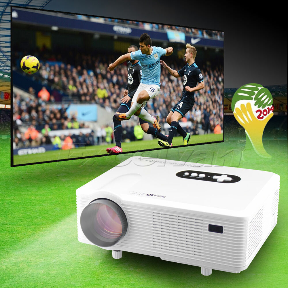260 Multimedia 3000 Lumens Hd Led Projector Home Theater: New 3000 Lumens HD LED Home Theater Native 1280x800 1080p