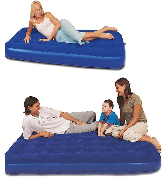 bestway inflatable blow up flocked camping holiday travel guest air mattress bed ebay. Black Bedroom Furniture Sets. Home Design Ideas