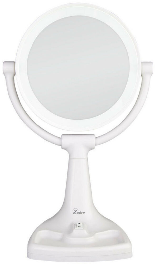 Zadro 10x 1x Max Bright Sunlight Vanity Makeup Lighted