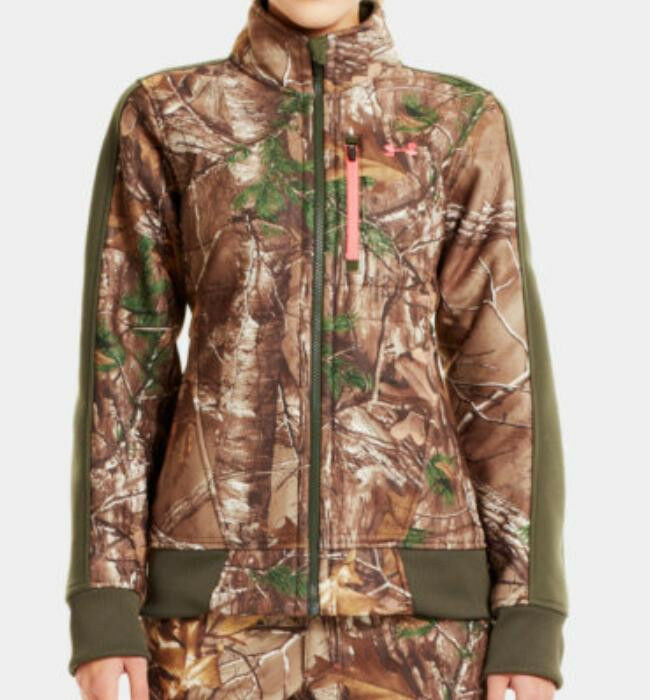 Womens camo fleece jacket
