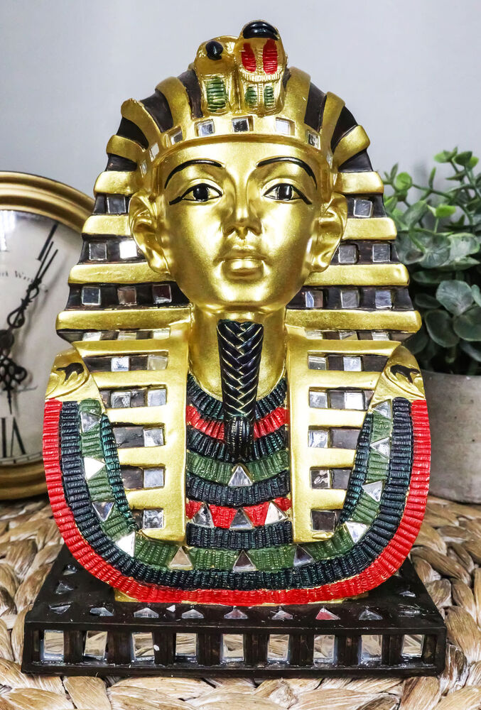 Ancient egyptian pharaoh king tut bust mask statue for Ancient egyptian decoration