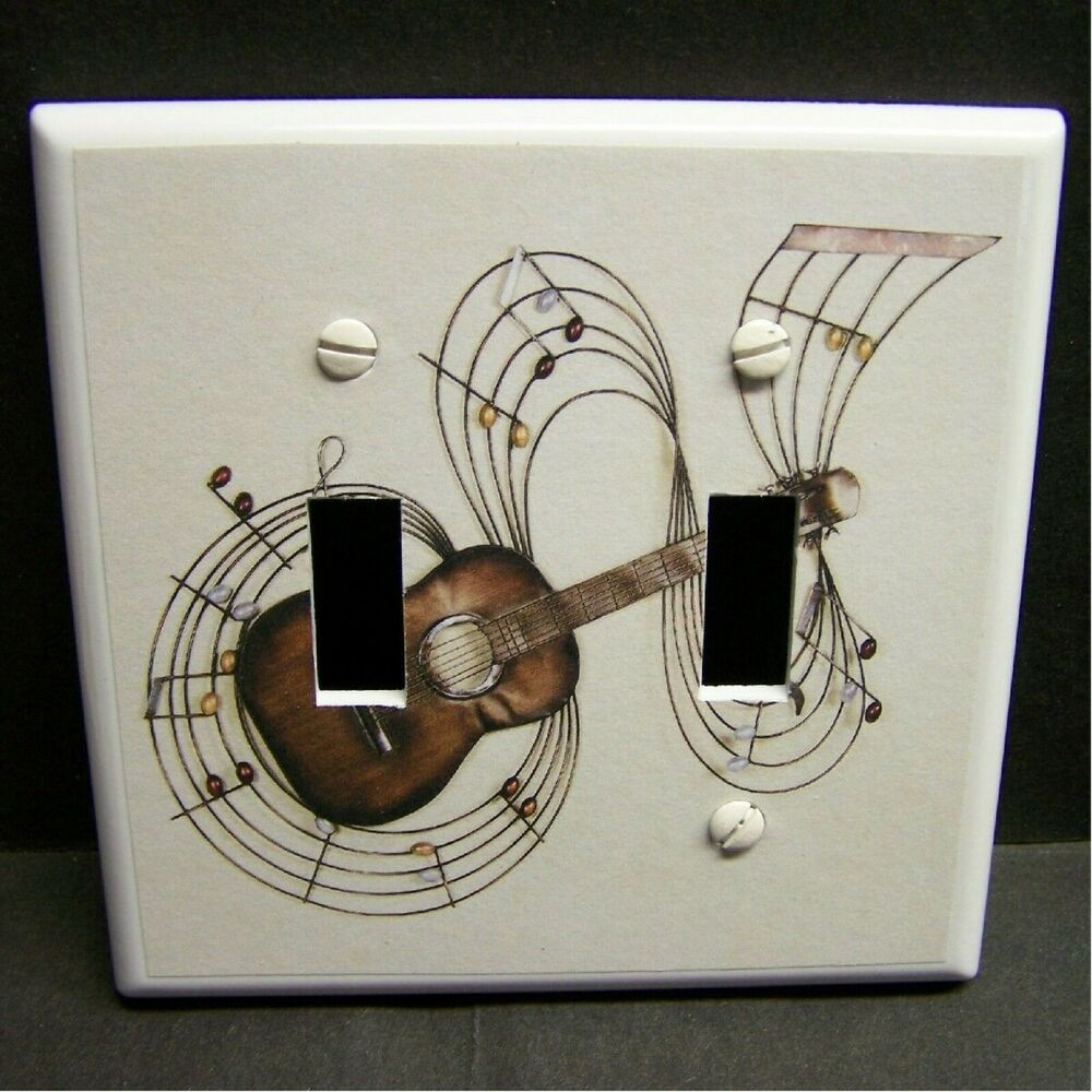 Music Notes And Guitar Home Decor Light Switch Cover Plate