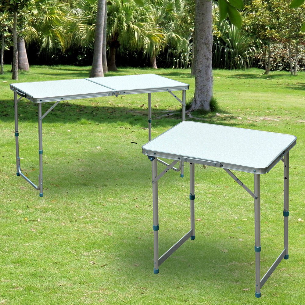 Patio outdoor folding portable camping square roll up top for Table camping