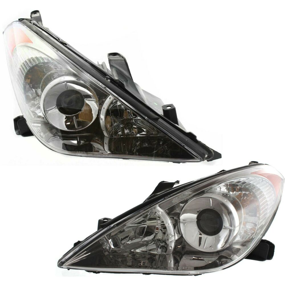 headlight set for 2004 2006 toyota solara driver and passenger side w bulb. Black Bedroom Furniture Sets. Home Design Ideas