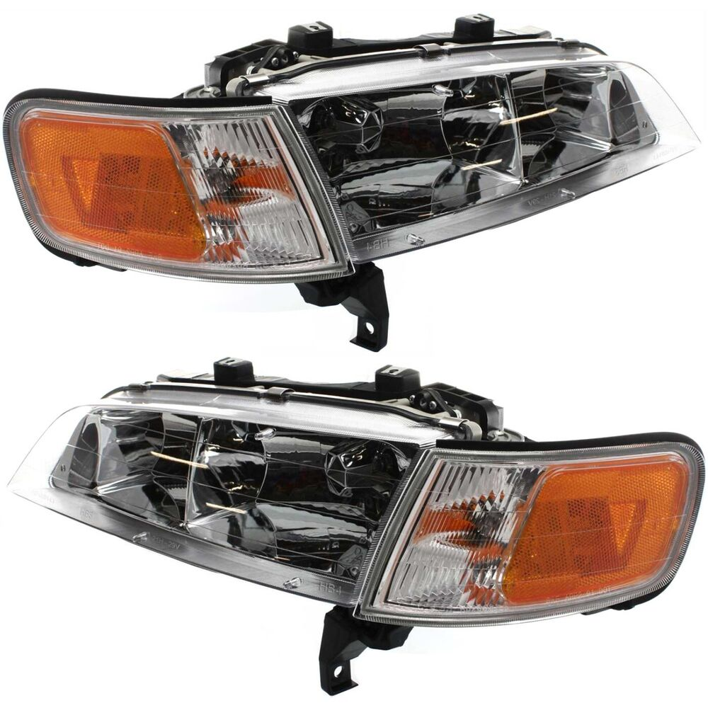 headlight set for 94 97 honda accord driver and passenger side w bulb ebay. Black Bedroom Furniture Sets. Home Design Ideas