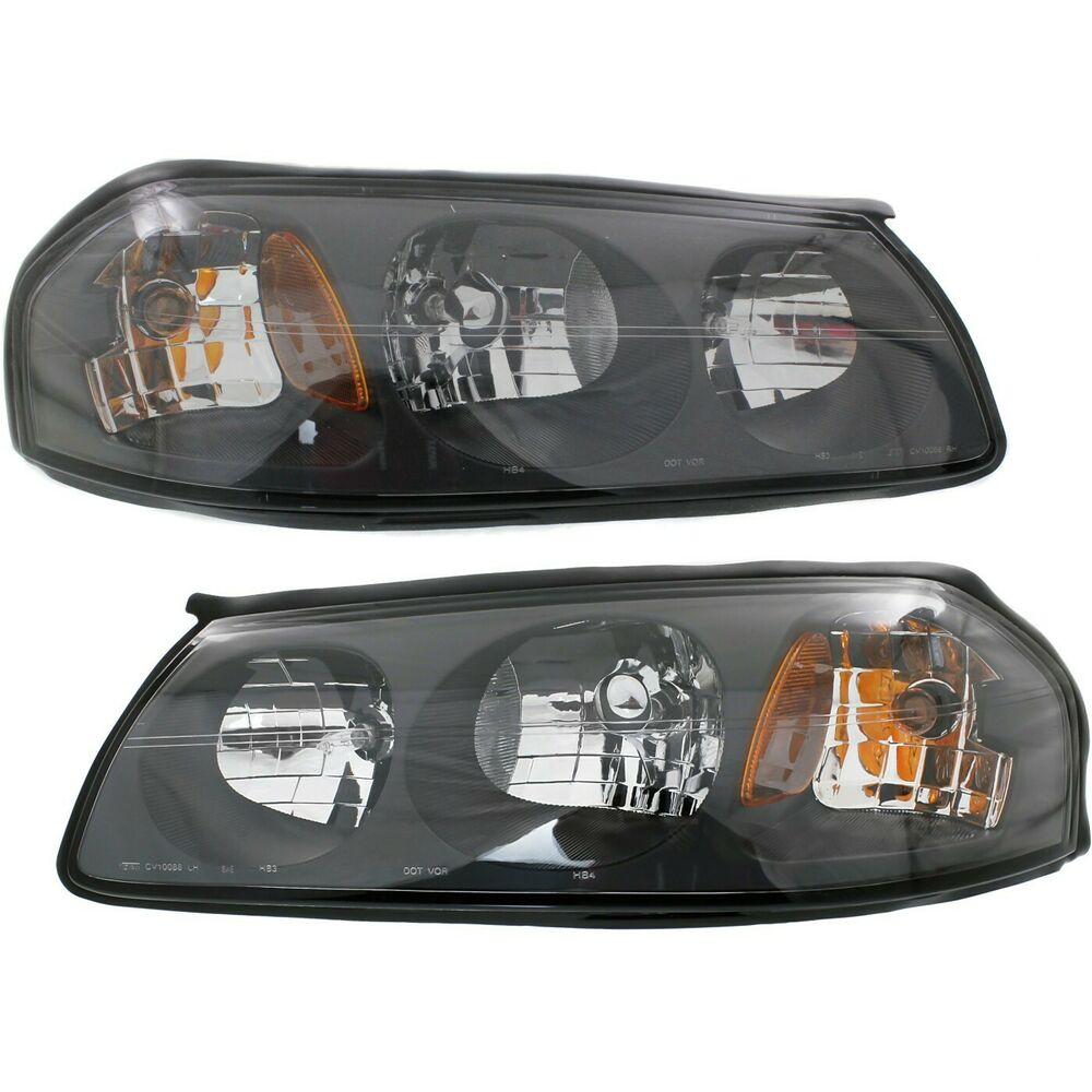 Details About Headlight Set For 2000 2004 Chevrolet Impala Left And Right With Bulb 2pc