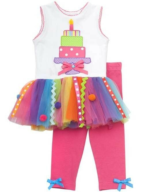 Rare editions girls 1st birthday party multi color tutu dress