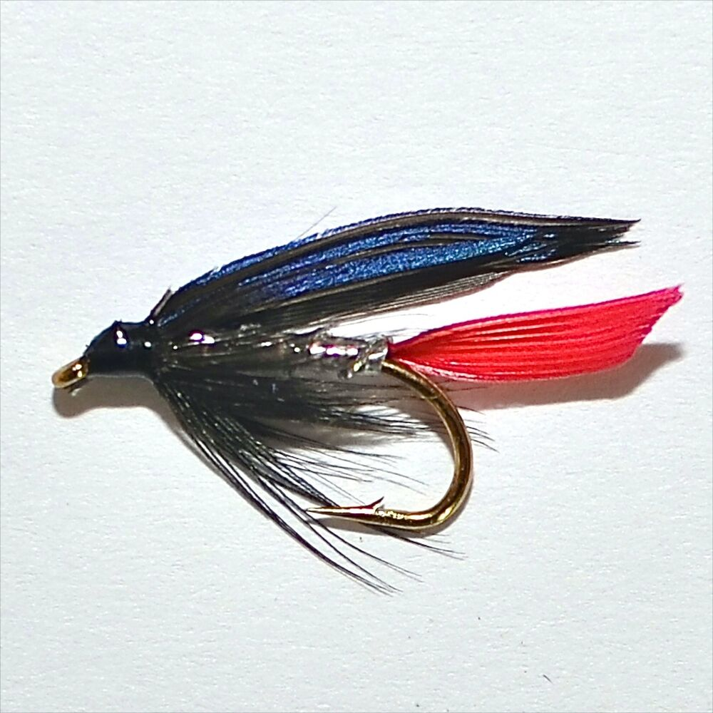 Silver butcher trout grayling wet fly fishing flies by for Ebay fly fishing