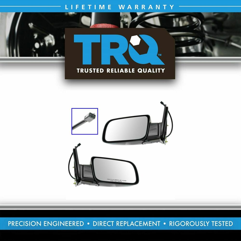 Mirrors Power Folding Black Left Right Pair Set For Chevy