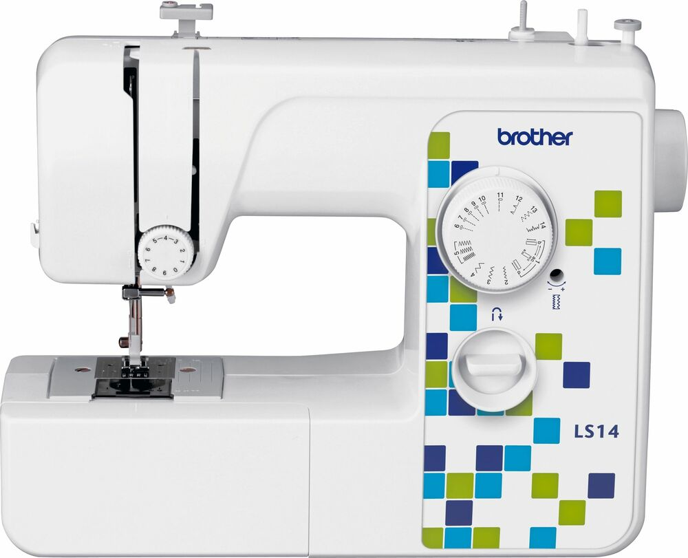brother ls14s manual stitch sewing machine white 787162940121 ebay. Black Bedroom Furniture Sets. Home Design Ideas