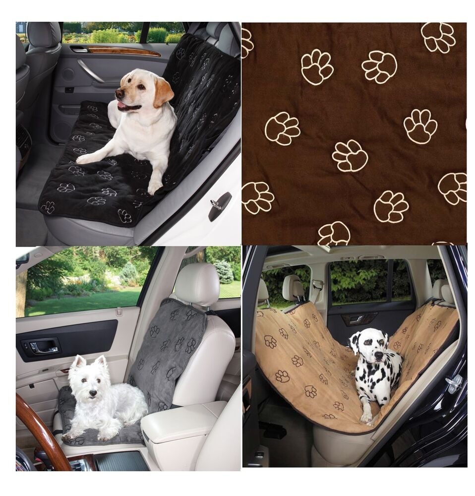 pawprint car seat covers for traveling pups dogs dog auto seats protection ebay. Black Bedroom Furniture Sets. Home Design Ideas