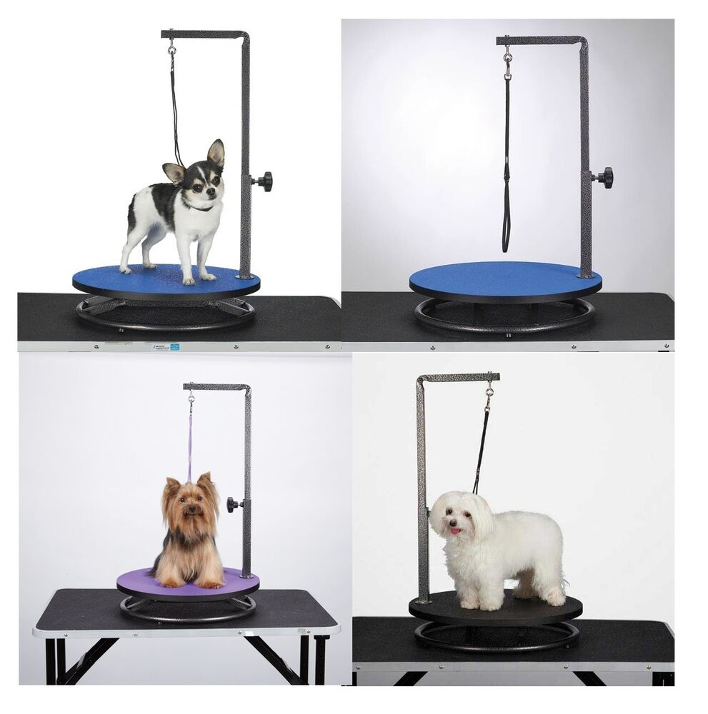 Round Rotating Small Pet Dog Cat Grooming Table