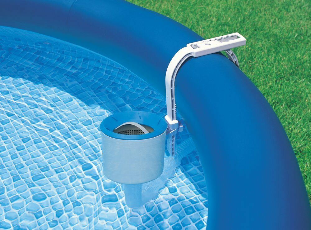 Intex deluxe wall mounted swimming pool surface automatic - Swimming pool skimmer basket parts ...