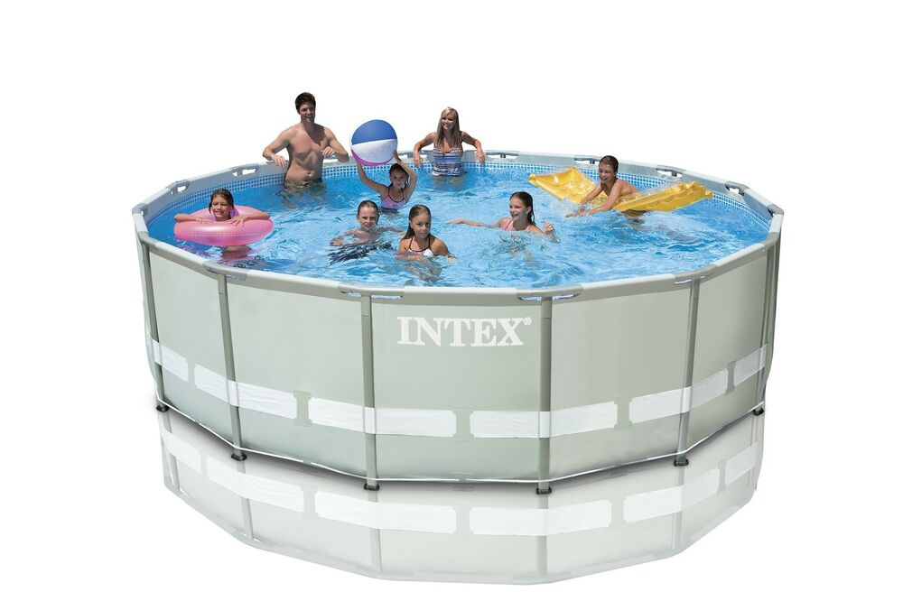 Intex 16 39 X 48 Ultra Frame Swimming Pool Set W 1500 Gph Krystal Clear Pump Ebay