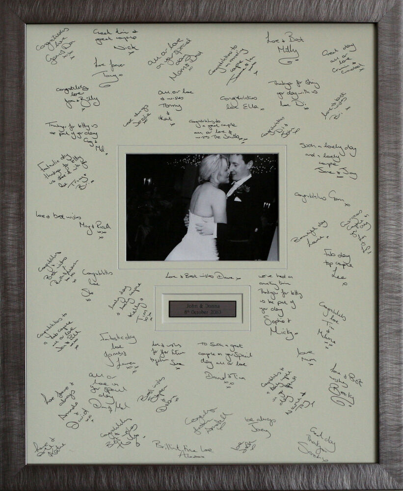 wedding guest book frame ebay
